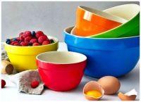 Set of 5 Multi-Colour Ceramic Mixing Bowls