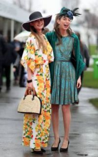 Friends wearing Floral Frocks.