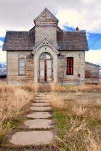 Abandoned 1896 Church and Meetinghouse -- Ovid, Idaho.....