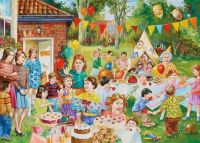 A very busy childrens birthday party