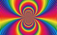 rainbow spiral mirror