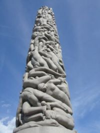Vigeland sculptures: central column, Frogner Park, Oslo