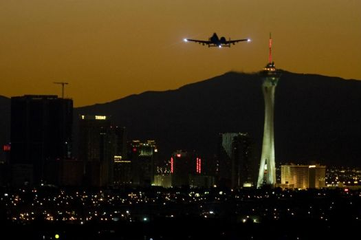 A10 Thunderbolt takes off over Las Vegas