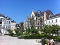 Blue skies in Troyes, France