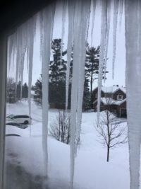 Canada - more snow and more icicles