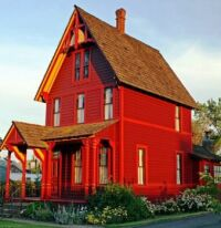 1891 Bright Red House
