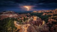 Stormy night in Bryce Canyon National Park, Utah