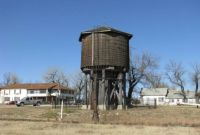 Historic Wooden Water Tower In Beaumont, Kansas