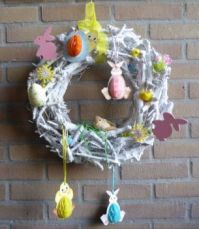 Spring / easter decoration in the central hall of our appartments