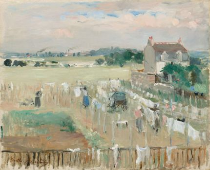 Hanging the Laundry Out to Dry  1875 Morisot