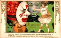 Halloween Faces, by artist Samuel L Schmucker (1874-1921)
