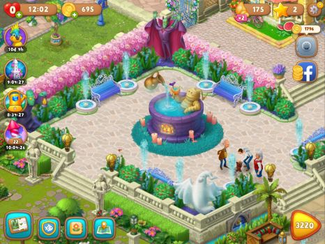 Gardenscapes French benches