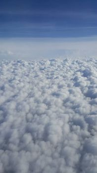 Mammatus Clouds from above