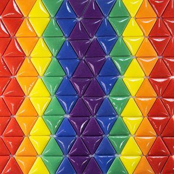 Rainbow mosaic triangles (Medium)