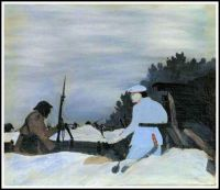 WW I series: Outpost Raid, Champagne Sector ~ Horace Pippin