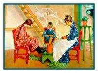 Carl Larsson, Shelling Peas, 1908