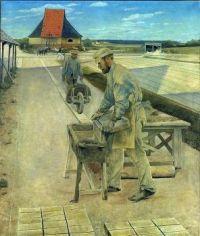 Laurits Andersen Ring (Danish, 1854–1933), Workers, Ladby Brickworks (1892)