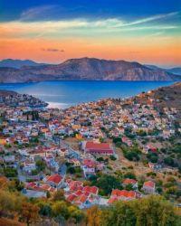 Sunset in Symi, Greece  6069