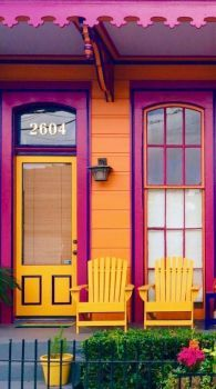A Colorful Place To Sit...New Orleans, Louisiana