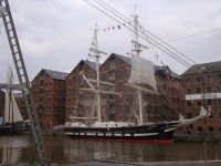 A Tall Ship in Gloucester docks.