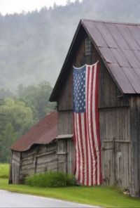 American flag on a very old bar1.n