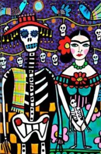Day of The Dead Frida by Heather Galler