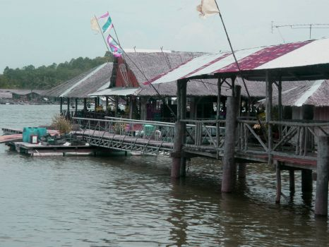Ruean Phae Sam Chong Seafood Restaurant near Kalai on Phang Nga Bay