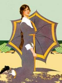 Another Coles Phillips fade-away piece from 1910.