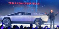 s Elon Musk introduces the Cybertruck - w