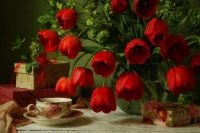 Tulips And Tea Cup
