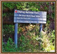 Dharug National Park sign at Wisemans Ferry.