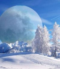 Winter moonscape
