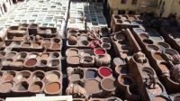 The tanneries at Fes, Morocco