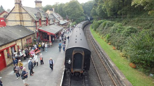 The Steam engine Repulse, at Haverthwaite Station