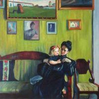 Boris Kustodiev   Mother an Infant