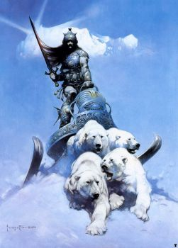 """The Silver Warrior"" (1972) by Frank Frazetta"