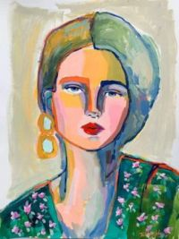 A Paintings of Colorful Women by Kelsey Howard