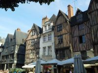 Half-timbered houses, Tours, France