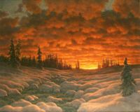 """Winter Sunset""-Ivan Choultse"