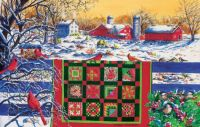 Winter-Patchwork and Cardinals--medium