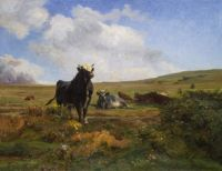 """Auguste Bonheur, """"The Chief of the Herd"""""""