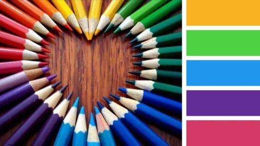 Rainbow Heart in Pencils