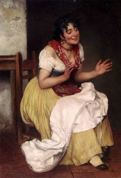 An Intersting Story by Eugene de Blaas