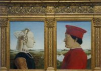 mid 1400's painting of a couple