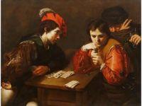 Valentin de Boulogne (French, 1594–1632), Die Falschspieler (The Card Sharp)