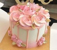 Pink Floral Buttercream Frosting