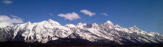 The Grand Tetons from Jackson Hole Airport