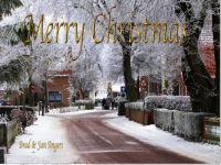 Winter scene Christmas
