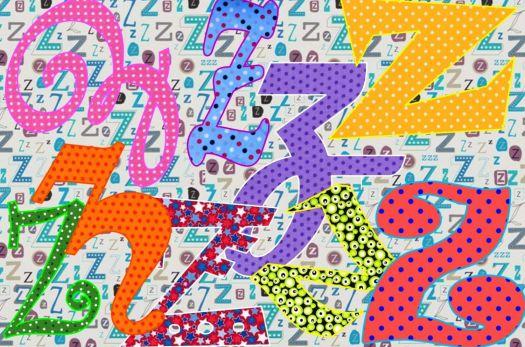 Friday fonts -  Zz - small