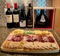 Wine and cheese charcuterie